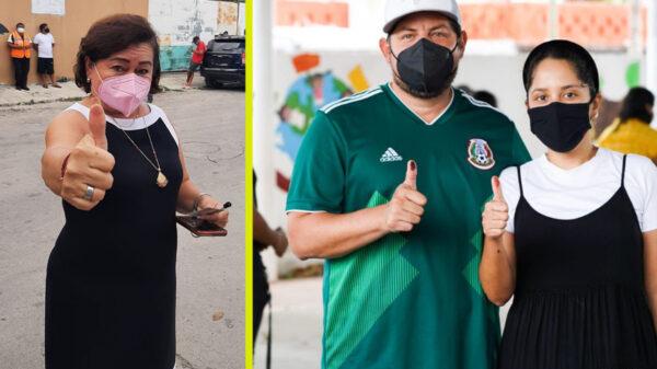 Votan todos los candidatos a la alcaldía de Cozumel