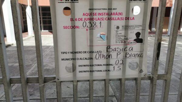 Reportan falta de coordinación en casilla de la colonia Centro
