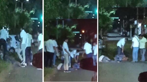 Causa indignación salvaje golpiza de taxistas de Chetumal a dos sujetos.