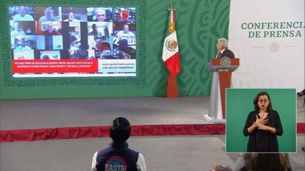 AMLO exhibe video de Aguilar Camín en donde lo insulta