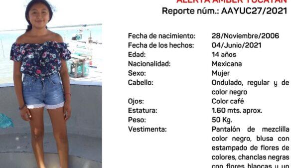 Activan Alerta Amber para localizar a menor de 14 años desaparecida en Tizimín