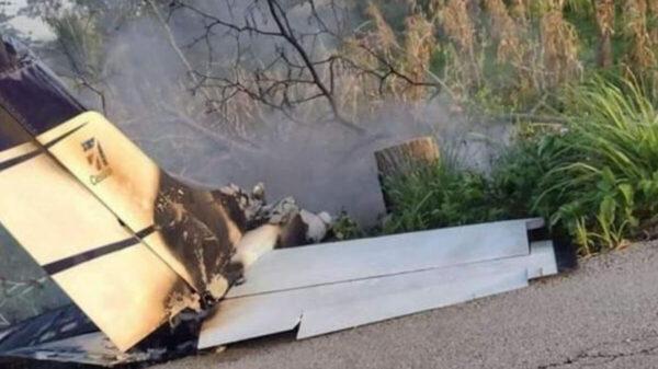 Se estrella avioneta en Tabasco; fue interceptada por la Marina