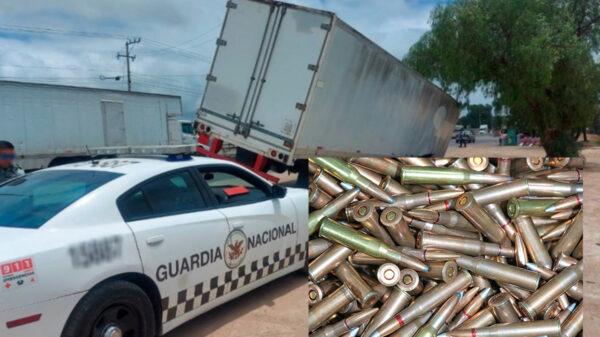 Localiza Guardia Nacional cargamento de balas robadas en Guanajuato