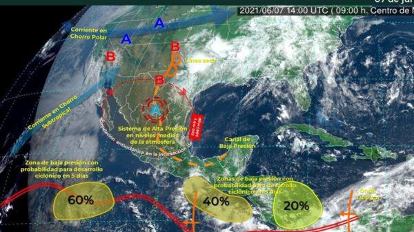 Zona de inestabilidad no representa riesgo para Quintana Roo.