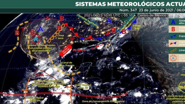 Clima en Quintana Roo: Tiempo caluroso con algunos nublados.