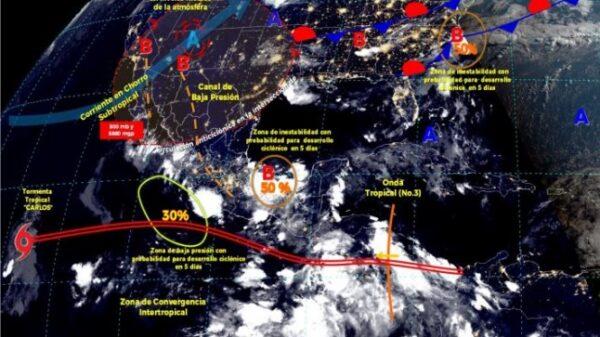 Pronóstico del clima para hoy lunes 14 de junio en Quintana Roo.