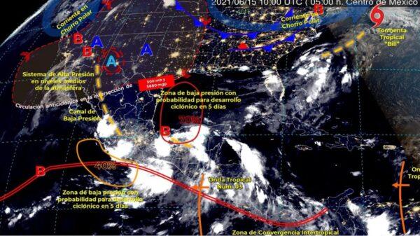 Clima: Posibilidad de lluvias aisladas para hoy en Quintana Roo.