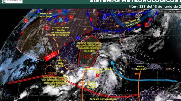#Clima: Continuarán las lluvias intensas en Quintana Roo.