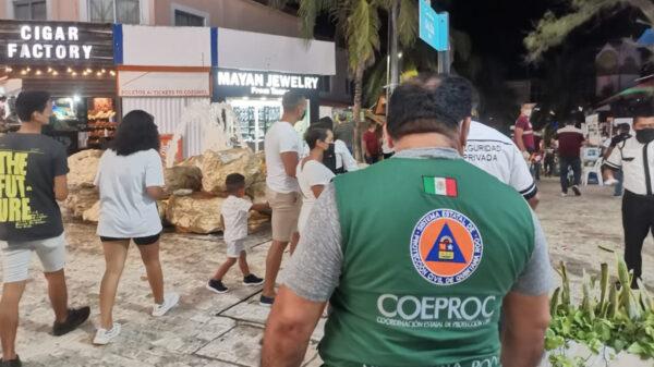 Despliegan autoridades campaña anticovid en Playa Del Carmen