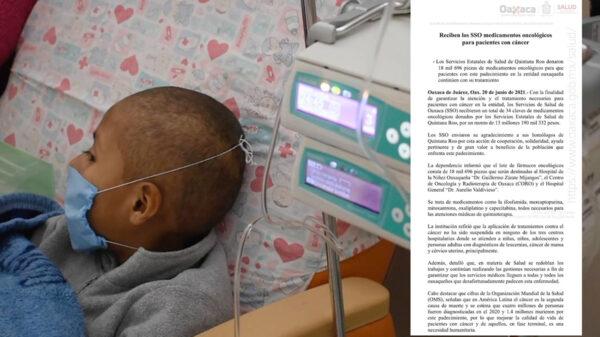 Sorprende donación de oncológicos de Sesa Quintana Roo a Oaxaca