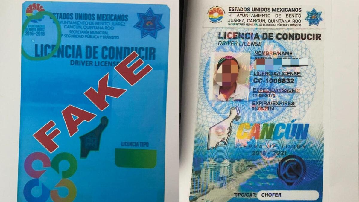 Sigue la venta de licencias de conducir FALSAS en Cancún