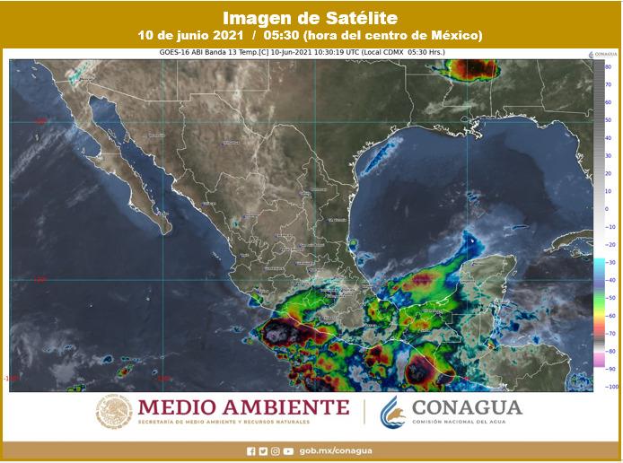 Pronóstico del clima para hoy jueves 10 de junio en Quintana Roo; incremento de nublados por la tarde, con lluvias e intervalos de chubascos.