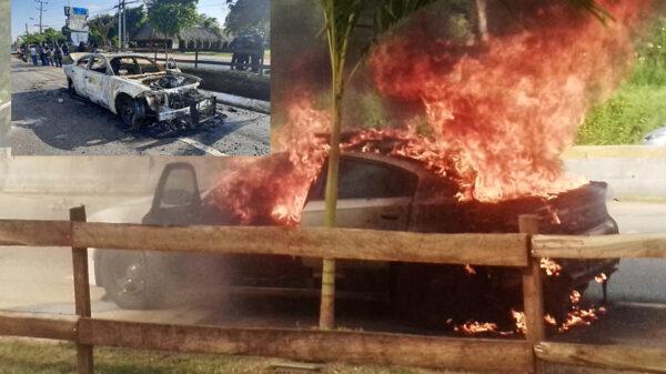 Pobladores de Tabasco queman patrulla de la GN por presunto abuso
