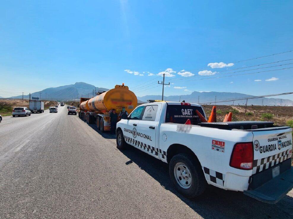 Golpe al huachicol; detienen a uno con 64 mil litros en Coahuila