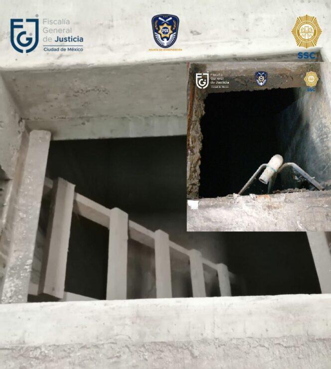 Toma clandestina en la bodega en Azcapotzalco en CdMx.