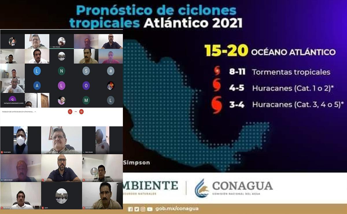 Instalan Comité de Atención a Fenómenos Hidrometeorológicos en Puerto Morelos