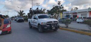 Fuerte presencia policial en zona continental de Isla Mujeres
