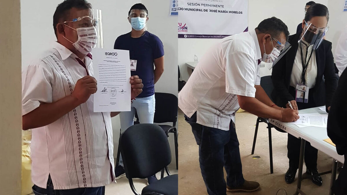 José María Morelos tiene presidente electo; recibe constancia de mayoría Erik Borges de Morena