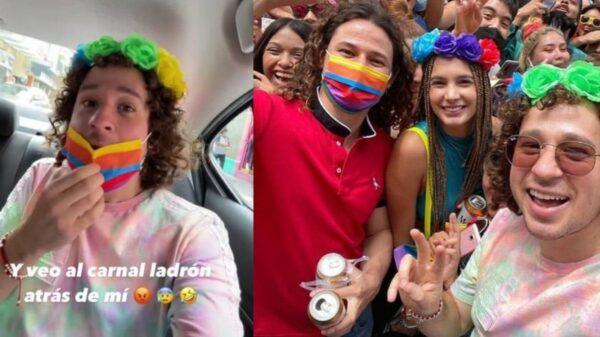 Luisito Comunica denuncia que intentaron robarle su celular en la Marcha LGBTQ+