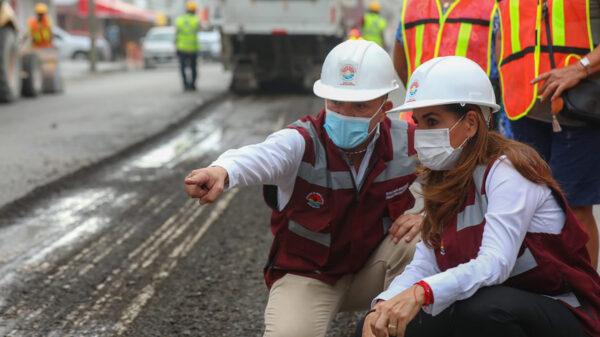 Inicia gobierno de Cancún pavimentación de tres avenidas