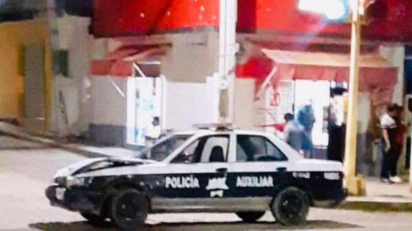 Chocan policías de Oaxaca por manejar en estado de ebriedad