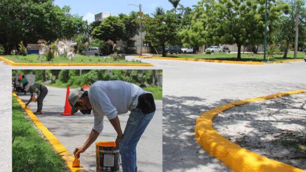 Remozan infraestructura vial en cabecera municipal de Puerto Morelos