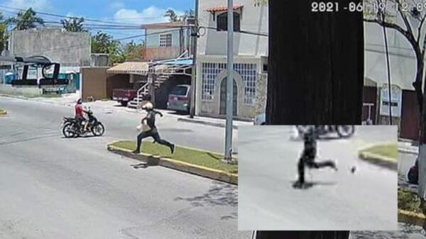 Video: Atraca tienda en Cozumel, pero pierde celular en huida
