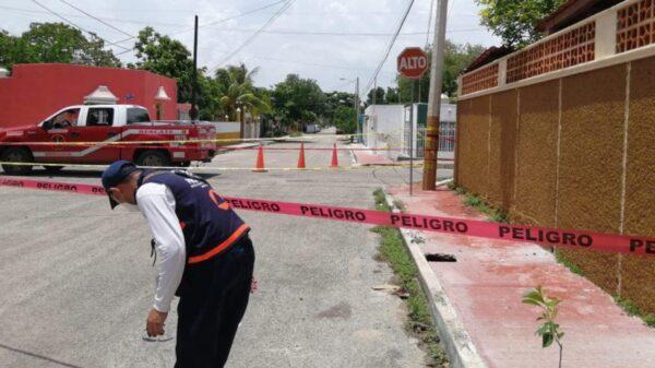 Mérida: Inician trabajos de relleno en la colonia Bojórquez tras aparecer un socavón