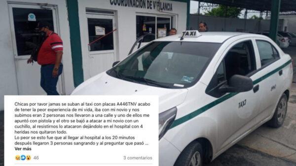 Cancún: Tras denuncia en redes sociales, detienen a taxista ladrón de turistas