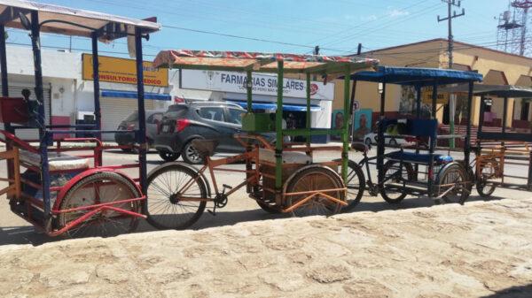 Con fin de campañas, termina bonanza de tricicleros de Kantunilkín