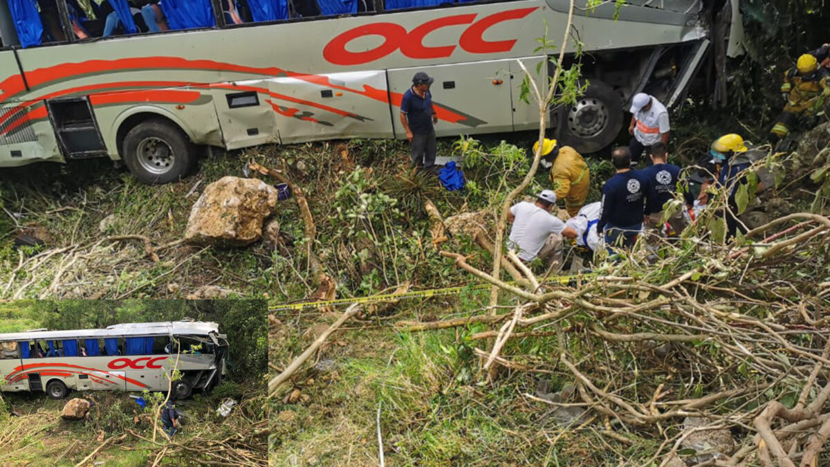 Volcadura de autobús deja un muerto y más de 30 lesionados, en Chiapas