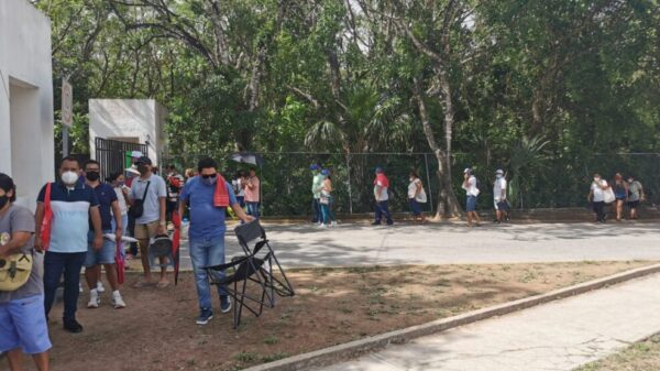 Más de 18 mil dosis de vacuna anticovid se aplicaron ayer en Cancún.