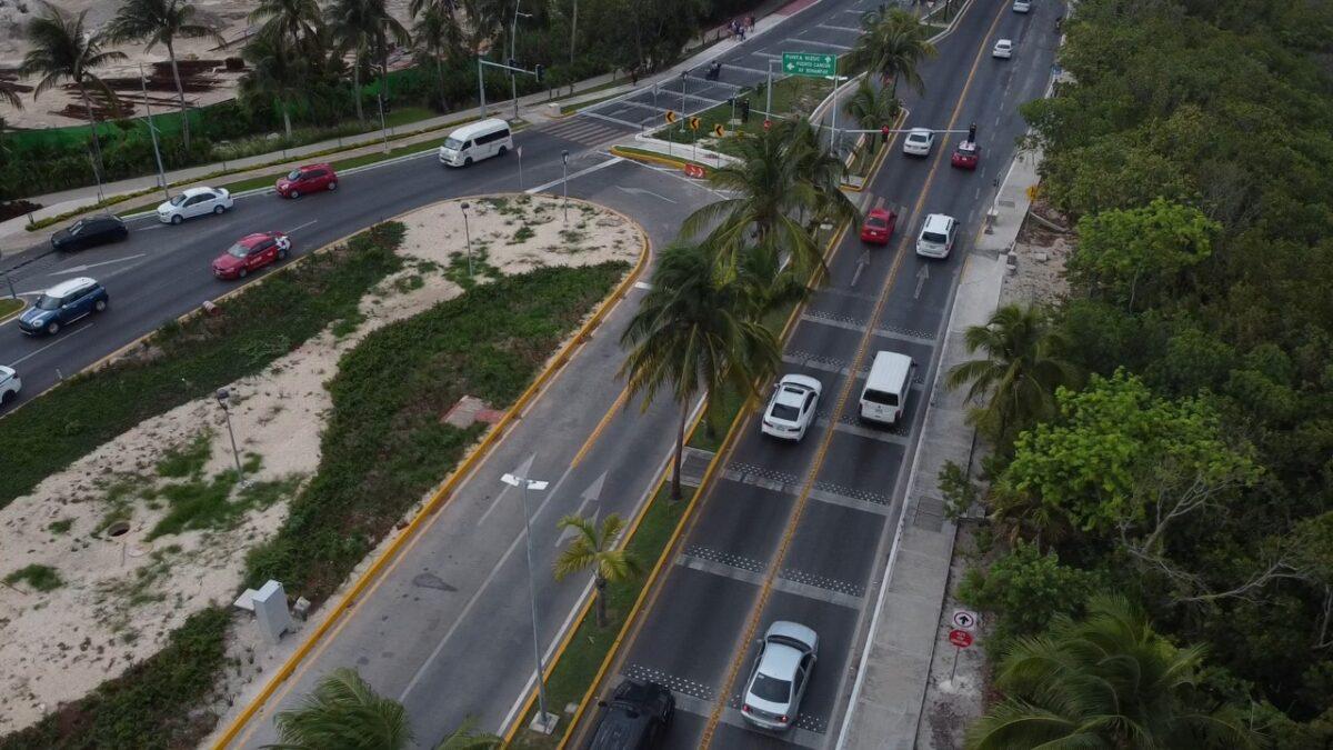 Anuncia Fonatur que iniciará la repavimentación del Bulevar Kukulcán.