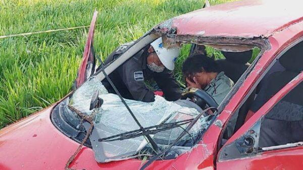 Terrible accidente deja un herido de gravedad en carretera de Tizimín; guiador huye