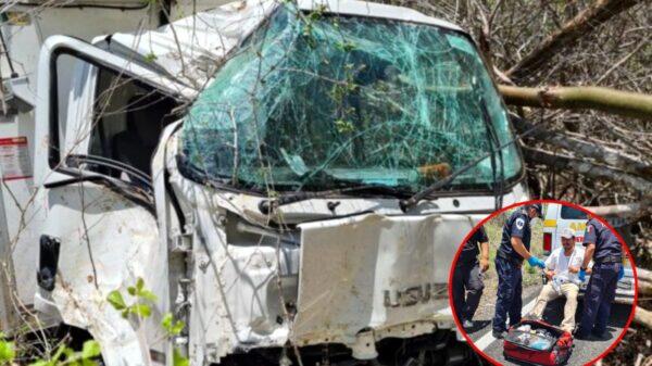 Terrible accidente en la carretera federal Kinchil-Celestún deja un lesionado