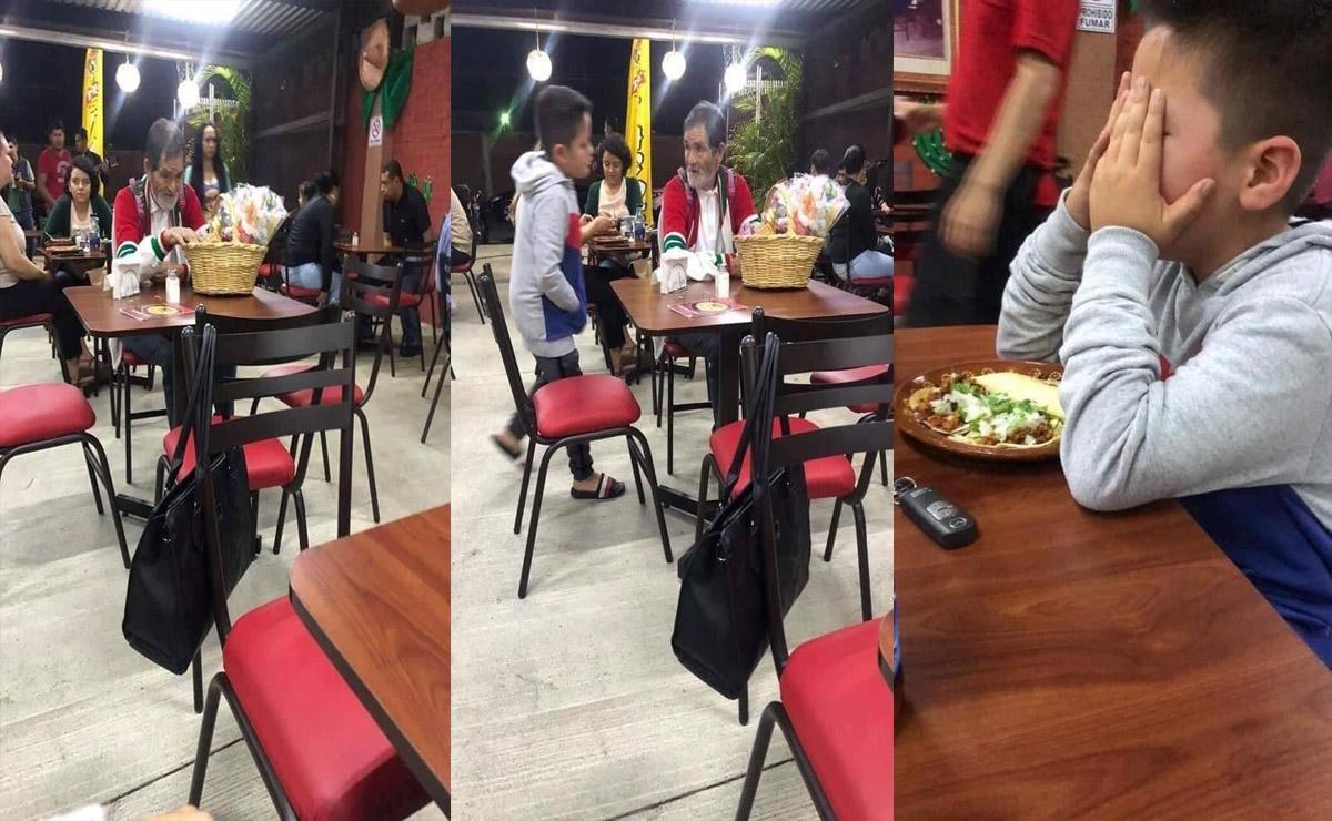 En redes sociales circula la historia de un niño que al ver a un vendedor ambulante decide darle dinero y le disparar unos tacos