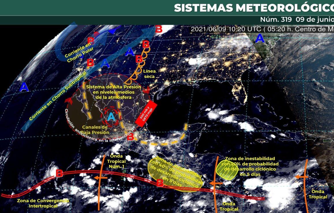 Pronóstico del clima para hoy miércoles 9 de junio en Quintana Roo.