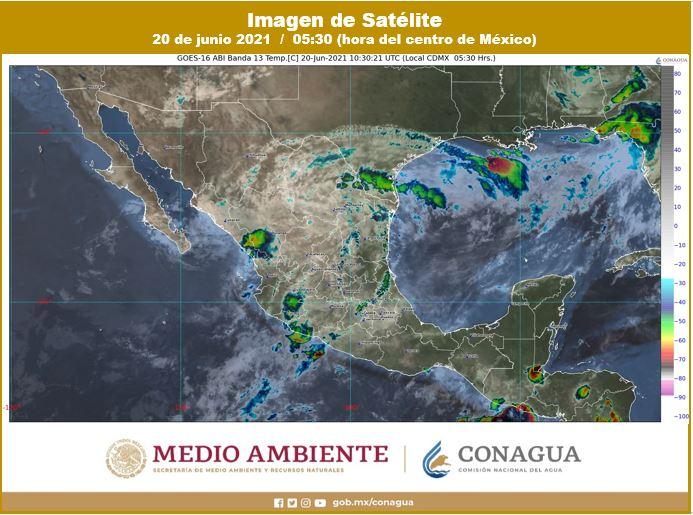 Clima: Cielo nublado y con chubascos aislados en Quintana Roo; continuarán las altas temperaturas en la Península de Yucatán.