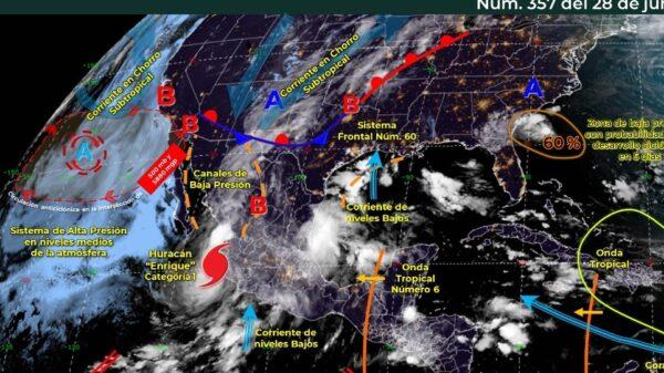 Clima: Cielo medio nublado y con posibilidad de lluvias en Quintana Roo.