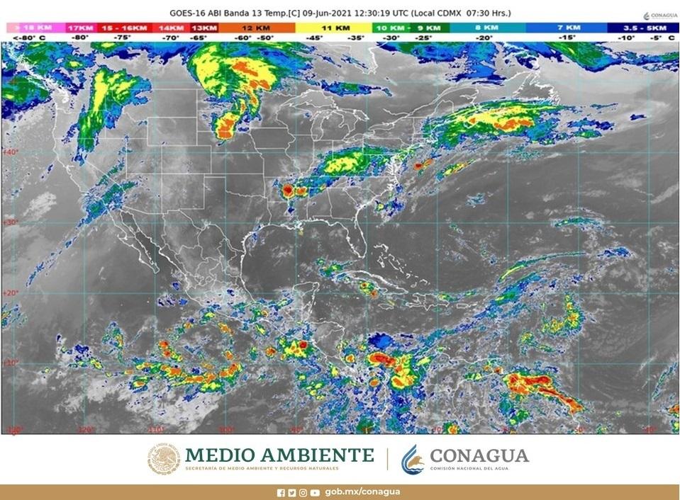 Pronóstico del clima para hoy miércoles 9 de junio en Quintana Roo; cielo medio nublado con posibilidades de chubascos, sobre todo por la tarde.