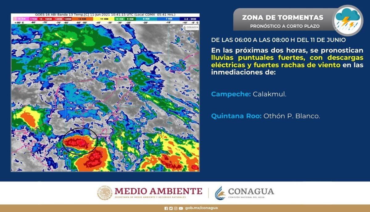 Pronóstico del clima para hoy viernes 11 de junio en Quintana Roo; prevalecerá cielo nublado con probabilidad de lluvias fuertes.
