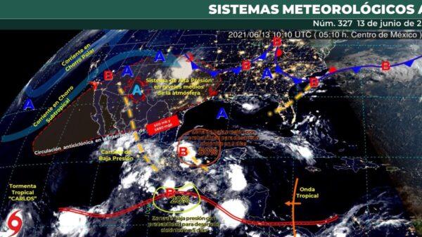 Pronóstico del clima para hoy domingo 13 de junio en Quintana Roo.