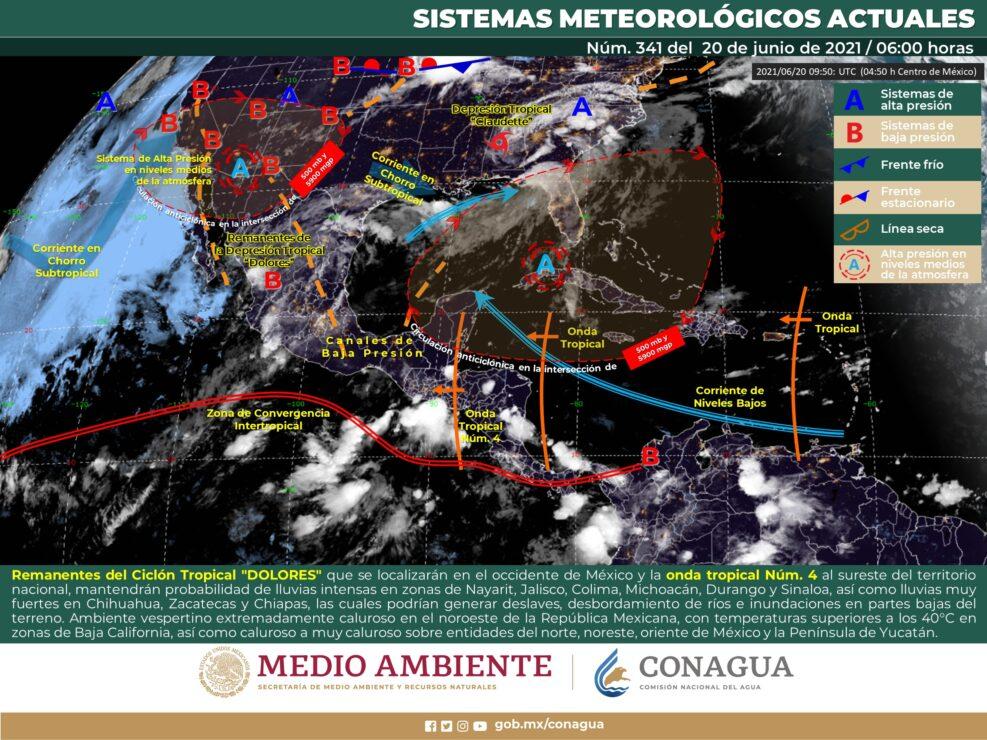 Clima: Cielo nublado y con chubascos aislados en Quintana Roo.