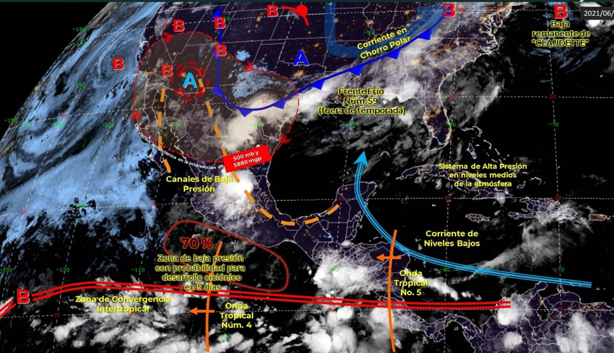 Clima: Lluvias aisladas y rachas de vientos en Quintana Roo.