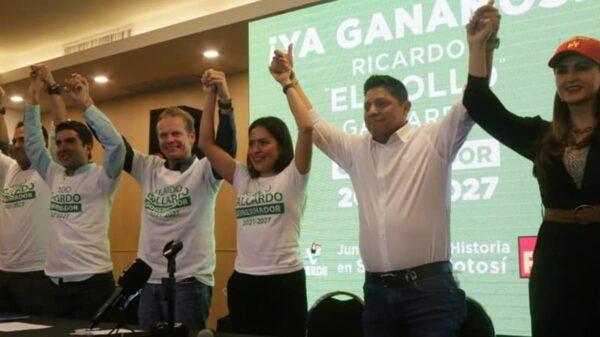 En San Luis Potosí, Ricardo Gallardo del Partido Verde se declara ganador con 8 puntos de ventaja