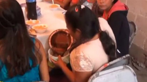 Es común que en las fiestas se desate la discordia por los recuerditos o el centro de mesa, pero una señora fue más allá al sacar su contenedor para llevarse su itacate