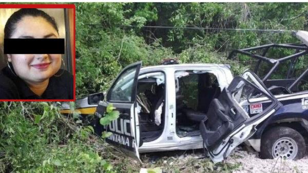 Fallece mujer policía tras 'patrullazo' en Felipe Carrillo Puerto.