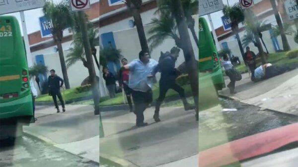 #Viral | Chofer y pasajero se agarran a golpes en Jalisco.