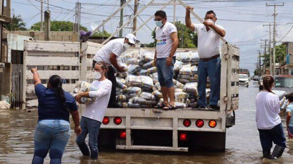 Alrededor de 500 despensas serán donadas a las familias afectadas por las inundaciones en Progreso
