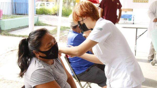 En Kanasín se agotan las vacunas contra el Covid-19 para personas de 40 a 49 años